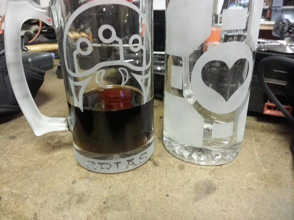 Claudio's Metroid and Portal Companion Cube mug
